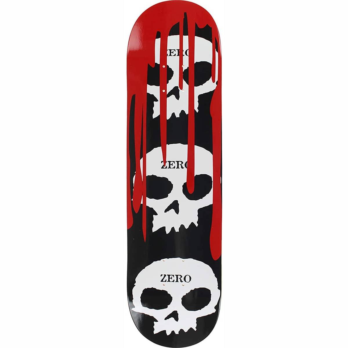 Planche de skateboard Zero 3 Skull Blood Black White Red deck 7.75″
