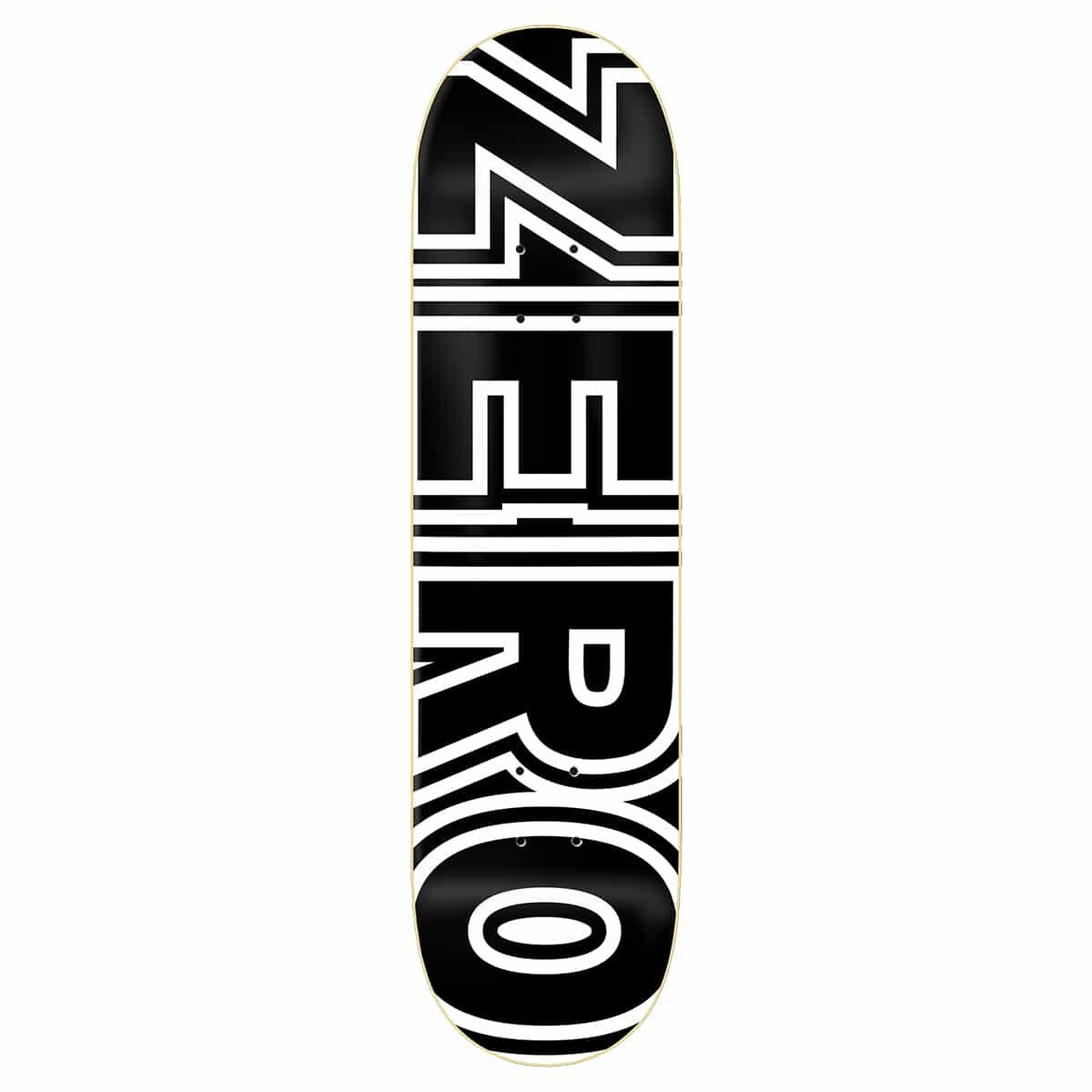 Planche de skateboard Zero Classic Bold Black White deck 8.0″