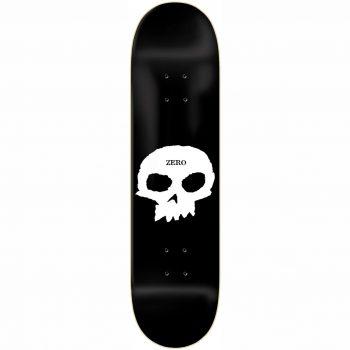 Planche de skateboard Zero Single Skull Black White deck 8.5″