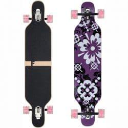 Longboard complet Funtomia Drop Through violet fleur