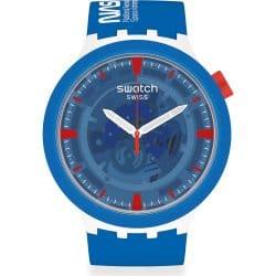 Montre Swatch Big Bold Ceramic bleue SB03Z100 Jumpsuit Édition Spéciale NASA
