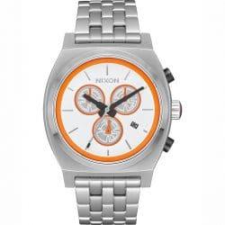 Montre Nixon The Time Teller Chrono SW-BB Blanc / Orange