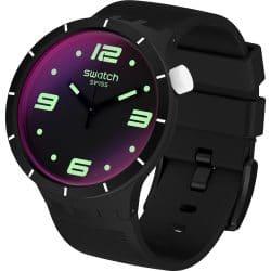 Montre Swatch Big Bold Futuristic SO27B119 Noire pour hommes et femmes